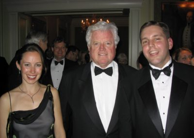 Former Fellows Diana Barkett & Chad Shearer with U.S. Senator Ted Kennedy