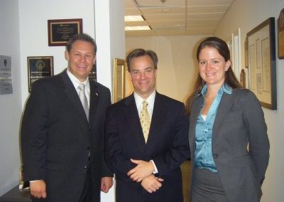 2008 Fellows, Andrew Roszak and Kelly Whitener with Mark McClellan,former administrator of the Centers for Medicare and Medicaid Services